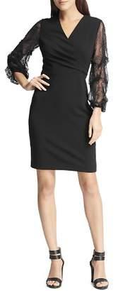 Donna Karan Lace-Sleeve Dress