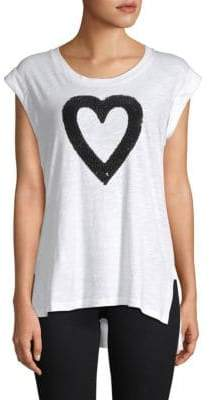 Kenneth Cole New York Embellished Heart Tank Top