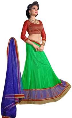 Splendid Shilp-Kala Colored Net Readymade Lehenga with Unstitched Blouse 8004