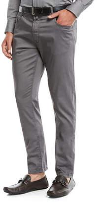 Neiman Marcus Men's Stretch-Cotton Five-Pocket Pants