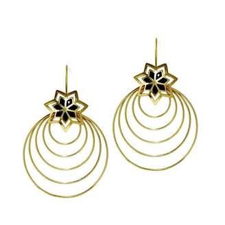 "Mela Artisans Hoop Earrings ""Circles of Light"""