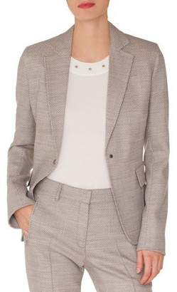 Akris Punto Press-Button Flap-Pockets Stretch-Wool Blazer