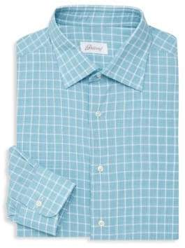 Brioni Tonal Plaid Dress Shirt