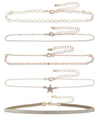 Capelli New York Set of 5 Choker Necklaces