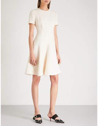 Valentino A-line wool and silk-blend mini dress