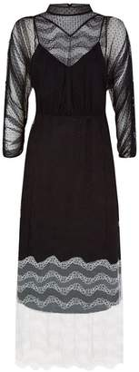Burberry Contrast Lace Dress
