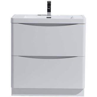 MORENOBATH Moreno Bath Smile 24 Free Standing Modern Bathroom Vanity with 2 Drawers and Reinforced Acrylic Sink