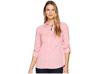 U.S. Polo Assn. Eyelet Woven Shirt Women's Clothing