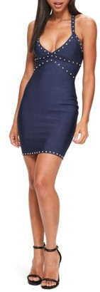 Women's Missguided Studded Body-Con Dress $62 thestylecure.com