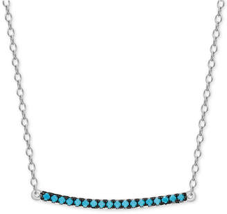 Macy's Manufactured Turquoise Bar Necklace in Sterling Silver