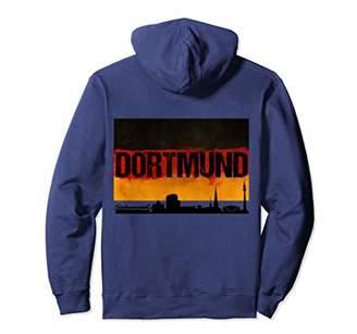 Dortmund Germany City Skyline German Flag BACK PRINT Hoodie