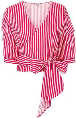 Liu Jo striped wrap top