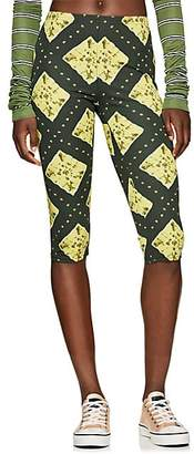 Marc Jacobs Women's Ikat-Inspired Stretch-Jersey Leggings - Grn. Pat.