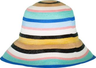 Emilio Pucci Multi Color Striped Hat