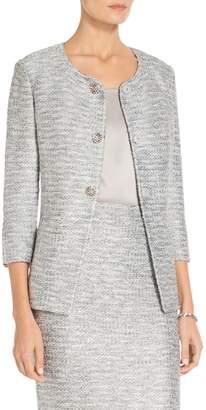 St. John Glint Knit Jewel Neck Jacket