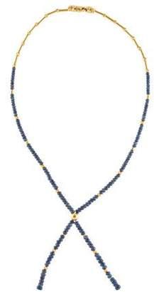 14K Sapphire Bead Strand Necklace