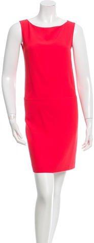 pradaPrada Bateau Neck A-Line Dress