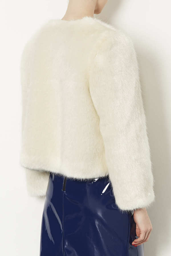 Topshop Lux Fur Shrug
