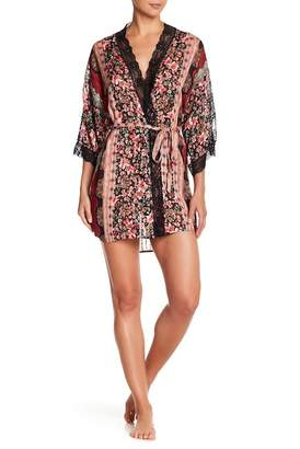 In Bloom by Jonquil Lace Trim Kimono