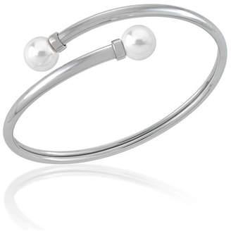 Majorica 9mm Coiled Manmade-Pearl Bangle Bracelet
