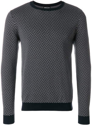Giorgio Armani embroidered fitted sweater