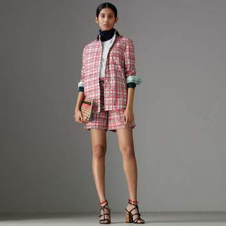 Burberry Painted Check Cotton Shirt