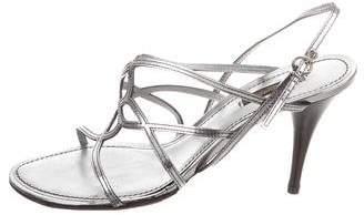 Louis Vuitton Metallic Multistrap Sandals
