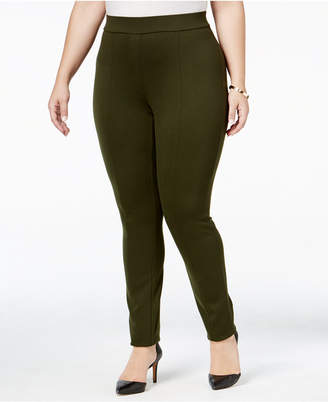 Style&Co. Style & Co Plus Size Seamed Ponte Leggings, Created for Macy's