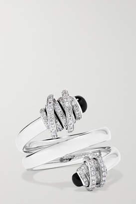 de Grisogono Toi & Moi 18-karat White Gold, Diamond And Onyx Ring