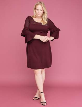 Lane Bryant Double Ruffle-Sleeve Sweater Dress