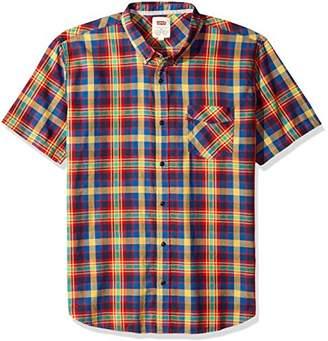 Levi's Men's Morris Plaid Short Sleeve Woven Shirt