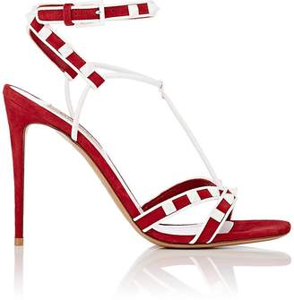 Valentino Women's Rockstud Suede Multi-Strap Sandals
