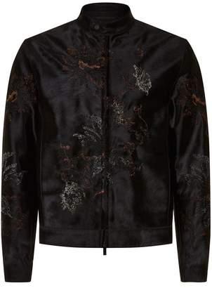 Emporio Armani Haircalf Embroidered Jacket