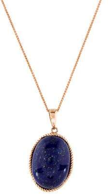 Lapis 14K Lazuli & Diamond Pendant Necklace
