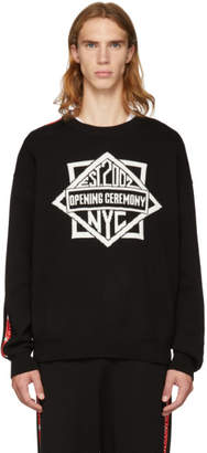 Opening Ceremony Black Jacquard Logo Knit Sweater