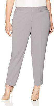 Kasper Women's Plus Drapey Crepe Pant