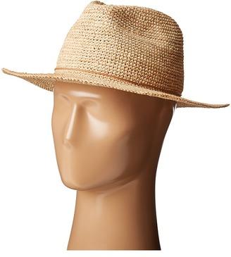 Hat Attack - Raffia Crochet Rancher w/ Stone - Cord Trim Caps $110 thestylecure.com
