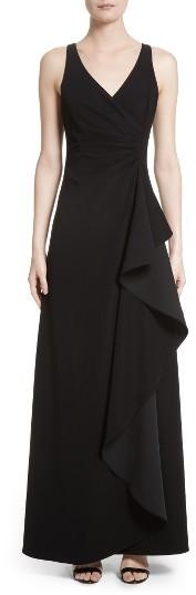 Women's Armani Collezioni Starburst Pleat Tech Cady Gown