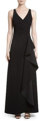 Women's Armani Collezioni Starburst Pleat Tech Cady Gown $1,795 thestylecure.com