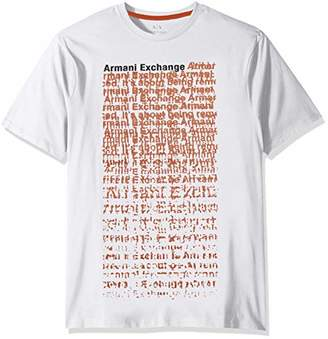 Armani Exchange A|X Men's Short Sleeve Crew Neck All Over Graphic T-Shirt