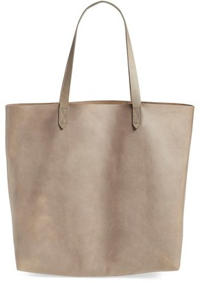 Madewell 'Transport' Leather Tote - Grey $168 thestylecure.com