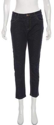 Marni Patterned Mid-Rise Jeans