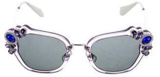Miu Miu Jewel-Embellished Tinted Sunglasses