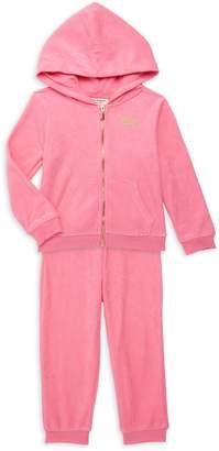 Juicy Couture Little Girl's 2-Piece Logo Cotton-Blend Hoodie & Jogger Pants Set