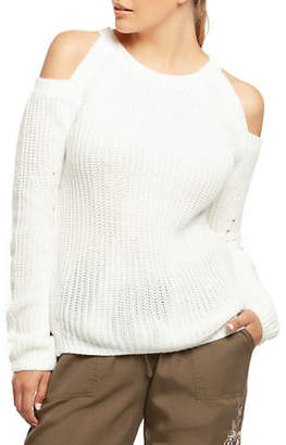 Dex Long-Sleeve Cold-Shoulder Sweater