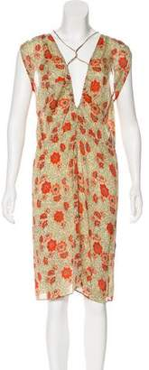 Isabel Marant Printed Knee-Length Dress