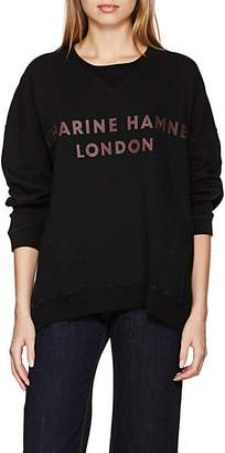 "Katharine Hamnett Women's ""Vince"" Logo Cotton Oversized Sweatshirt - Black"