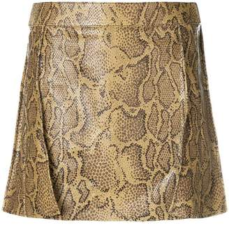 Chloé snake print mini skirt