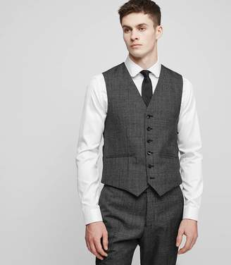 Reiss Angel W - Modern Fit Waistcoat in Black/White