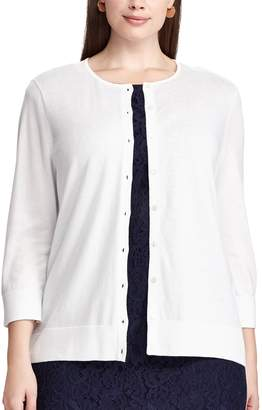 Chaps Plus Size Button-Front Cardigan
